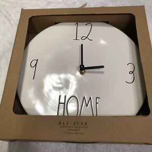 "🆕 Rae Dunn Magenta Ceramic ""Home"" Wall Clock"